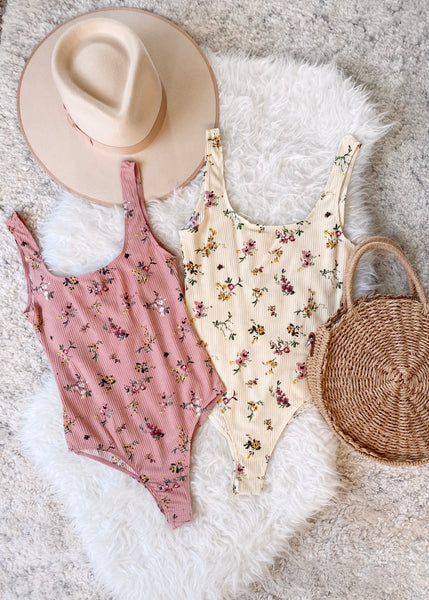 Lillie Floral Bodysuit - Rose