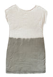 basic t shirt dress - grey dip-dye