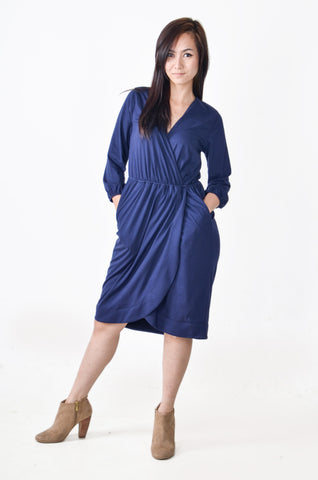 tess dress - navy