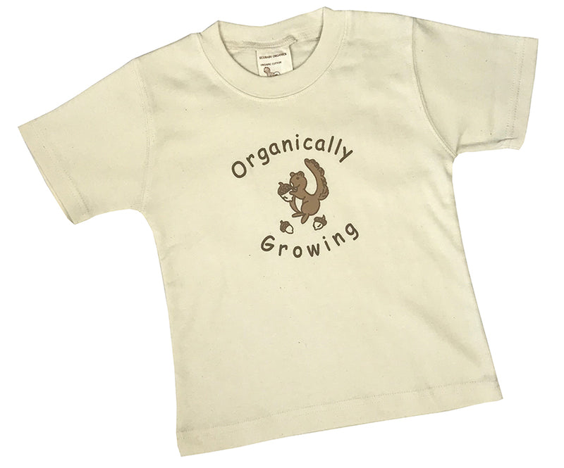 Organic Short Sleeve Organically Growing Tee Squirrel 12-24m