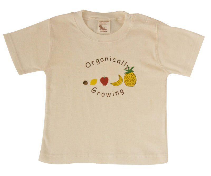 Organic Short Sleeve Organically Growing Tee Fruits 12-24m