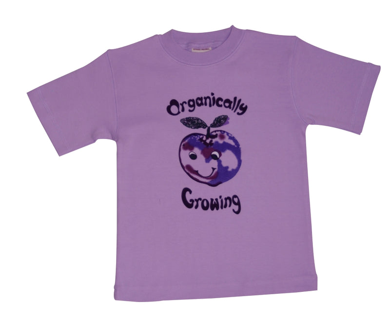 Ecobaby Short Sleeve Organically Growing Tee Purple Plum 1-6 Year
