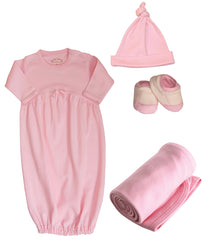 Organic Cotton Pinks Infant Layette Set