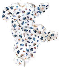Ecobaby Under The Sea Onesie 3-6M 2 Pack