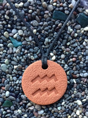 Aquarius Diffuser Necklace Terracotta