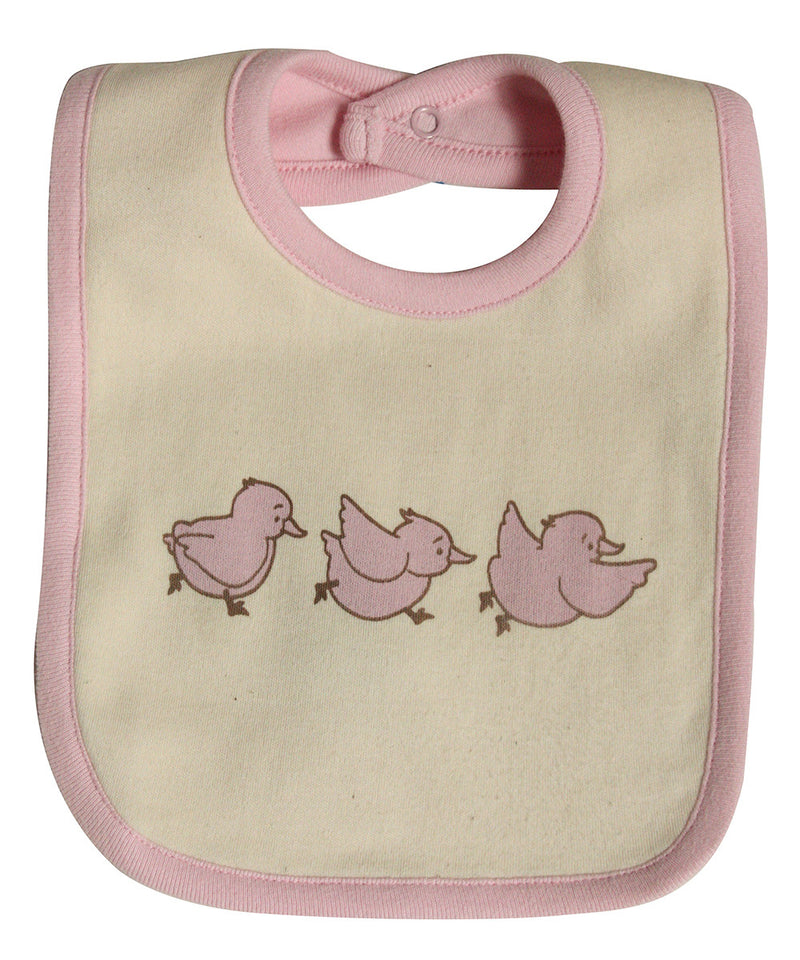 Organic Cotton Bib with Chicks