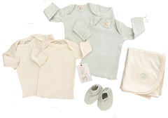 Ecobaby Organics Set of 4 Infant Tees, Booties, and Free Blanket