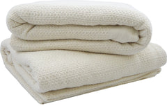 GOTS Certified Organic Cotton Waffle Weave Blankets - Made in USA