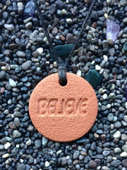 Believe Diffuser Necklace Terracotta