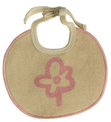 Organic Cotton Baby Bib with Rose