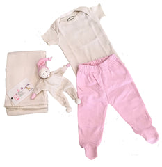 Organic Cotton Layette Set PINKS