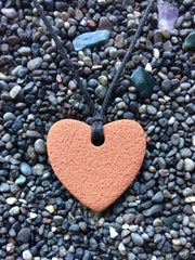 Heart Diffuser Necklace Terracotta