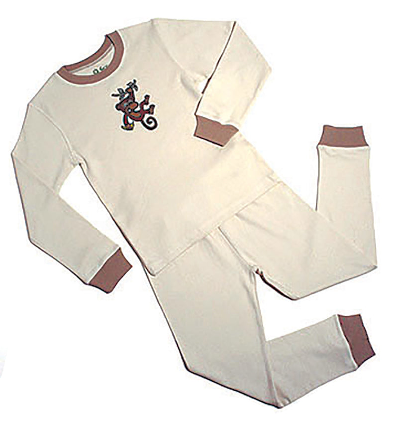Organic Cotton Long Johns Monkey