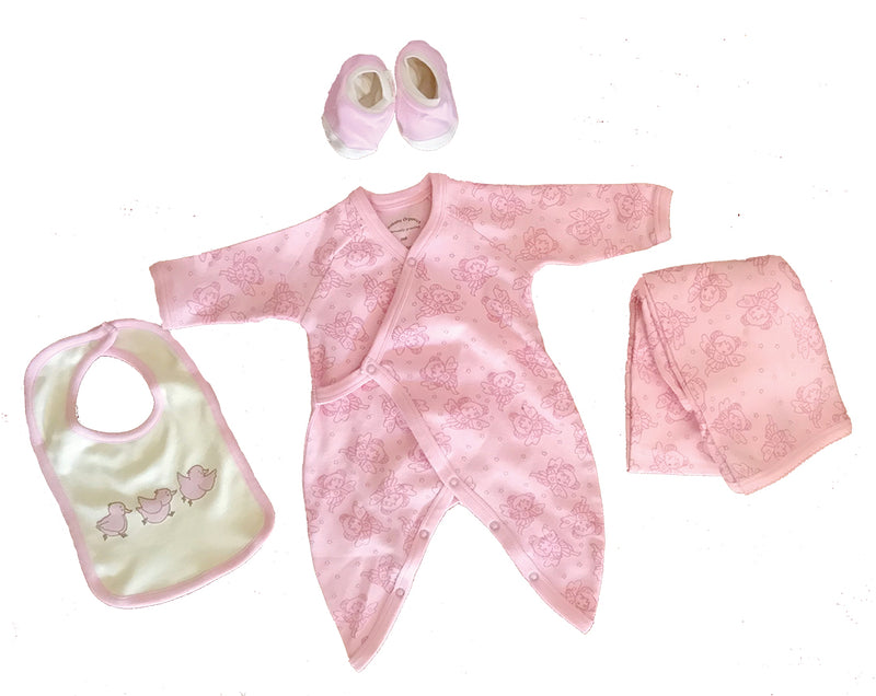 Organic Cotton Layette Set Pink Fairy