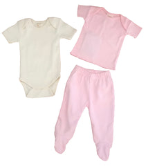 Organic Cotton Baby Set - Tee, Yoga pant, Onesie