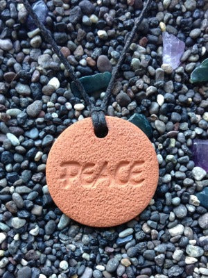 Peace Diffuser Necklace Terracotta