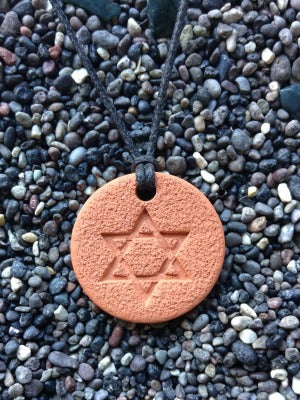 Star-of-David Diffuser Necklace Terracotta