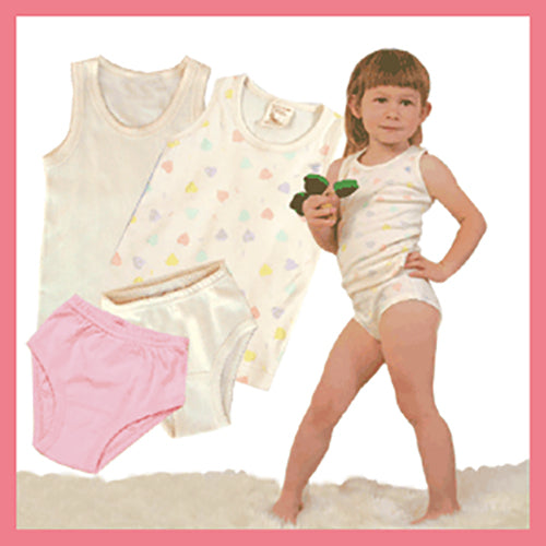 Girls Underwear - Organic Cotton