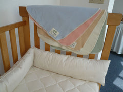 Crib Bumper Set Organic Cotton and Pure EcoWool