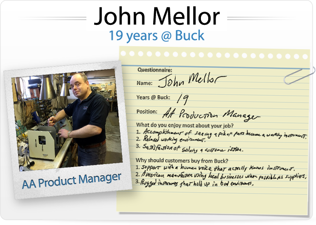 John Mellor (19 years @ Buck, AA Product Manager)