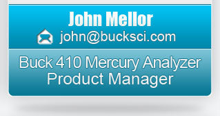 Buck 410 Mercury Analyzer Product Manager