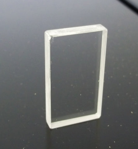 NaCl (Sodium Chloride) 38x19x4mm Cell Window (Drilled)