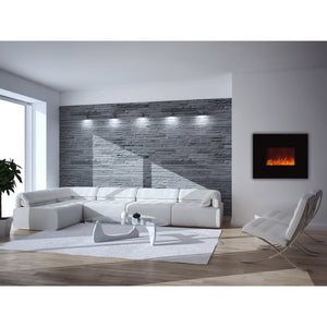 Ignis Royal - Wall Mount Electric Fireplace with Crystals - 36 inch - Prometheus Fireplaces