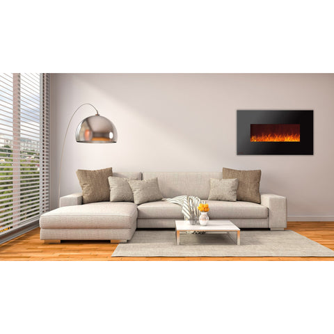 Ignis Royal Wall Mount Electric Fireplace With Crystals 50 Inch