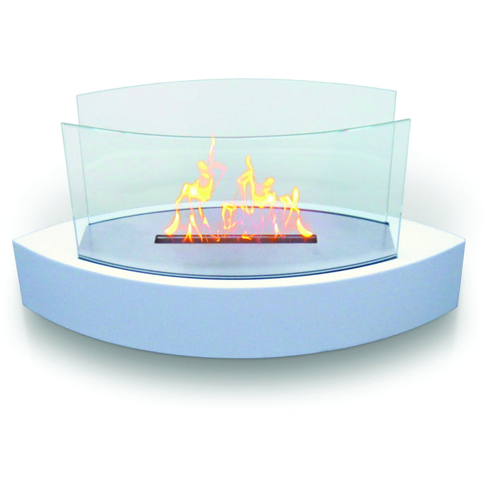 Anywhere Fireplace - Lexington White Ethanol (90204) Tabletop Fireplace - Prometheus Fireplaces