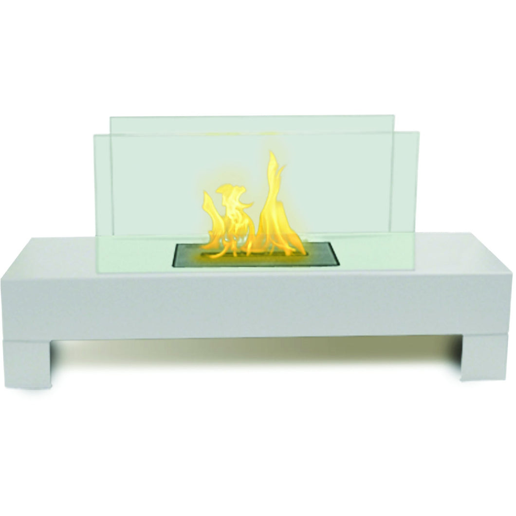 Anywhere Fireplace - Gramercy White (90214) Tabletop Ethanol Fireplace - Prometheus Fireplaces