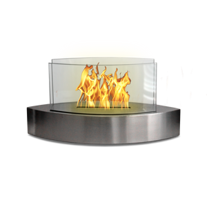 Anywhere Fireplace - Lexington Stainless Steel (90217) Ethanol Tabletop Fireplace - Prometheus Fireplaces
