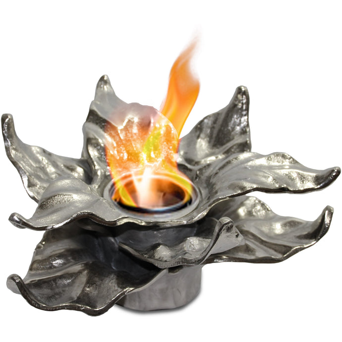 Anywhere Fireplace - Heathcote Silver (90226) Tabletop Ethanol Fireplace - Prometheus Fireplaces