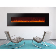 Load image into Gallery viewer, Ignis Royal - Wall Mount Electric Fireplace with Crystals - 95 inch - Prometheus Fireplaces