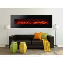 Load image into Gallery viewer, Ignis Royal - Wall Mount Electric Fireplace with Logs - 95 inch - Prometheus Fireplaces