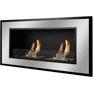 Ignis Bellezza Wall Mounted - Recessed Ventless Ethanol Fireplace - Prometheus Fireplaces
