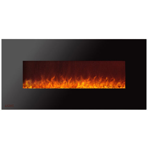 Ignis Royal Wall Mount Electric Fireplace With Crystals 60 Inch