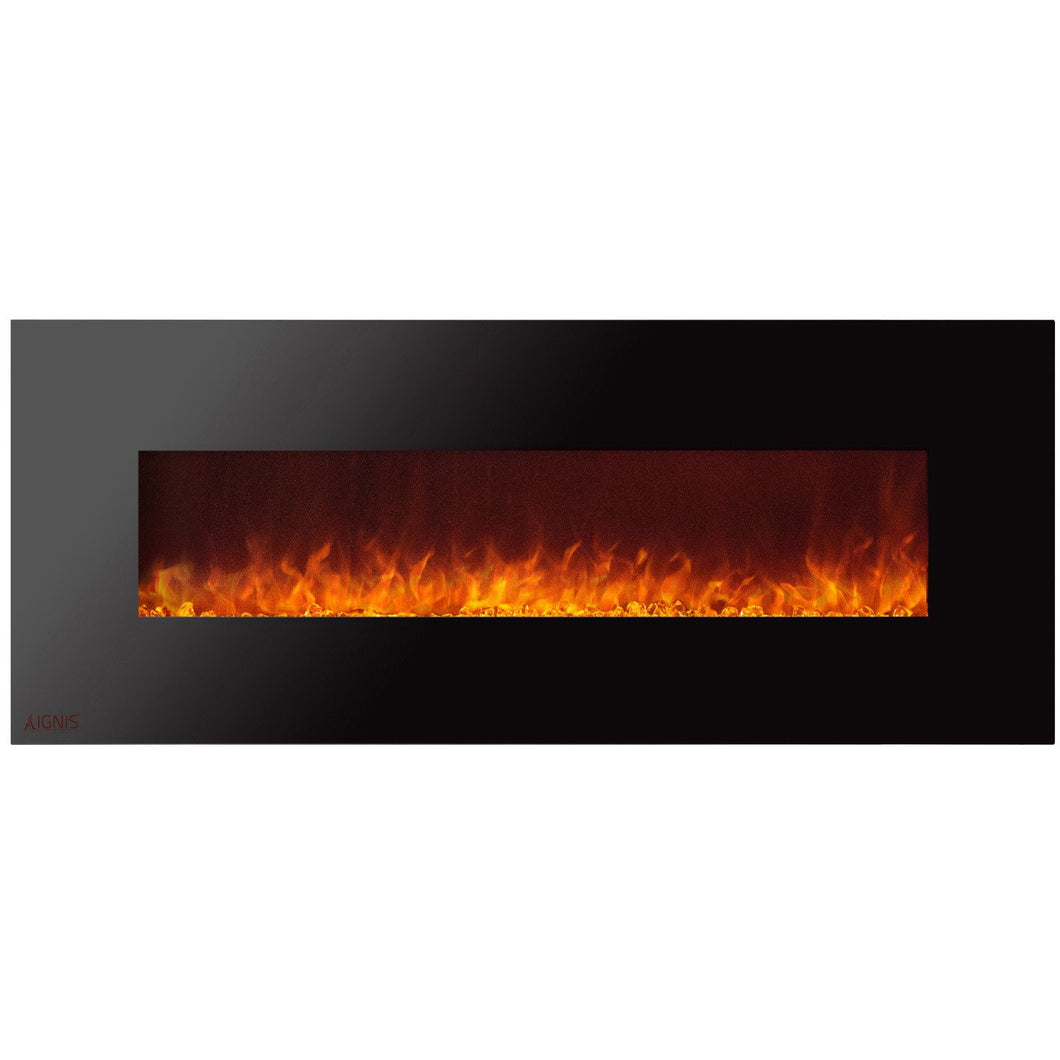 Ignis Royal - Wall Mount Electric Fireplace with Crystals - 72 inch - Prometheus Fireplaces