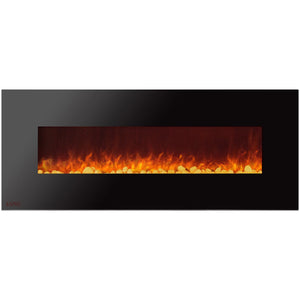 Ignis Royal - Wall Mount Electric Fireplace with Pebbles - 72 inch - Prometheus Fireplaces