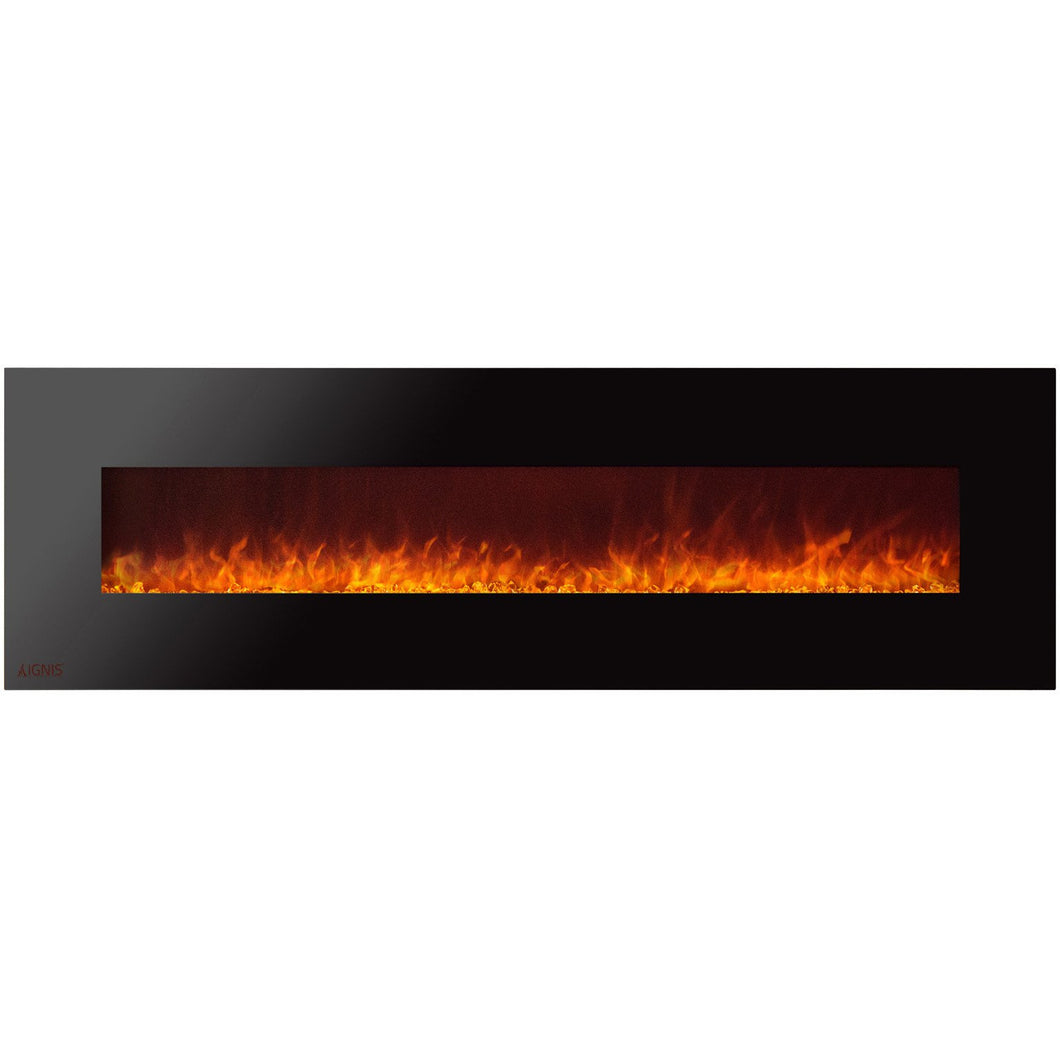 Ignis Royal - Wall Mount Electric Fireplace with Crystals - 95 inch - Prometheus Fireplaces