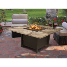 Load image into Gallery viewer, American Fire Glass Carmel Square 42 Inch Chat Height Fire Pit - Prometheus Fireplaces