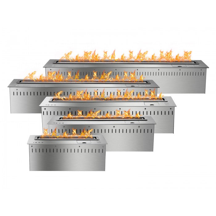 Ignis - Smart Bio Ethanol Electronic Burner - Stainless Steel - Prometheus Fireplaces