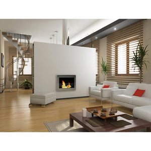 Anywhere Fireplace - SoHo White (90213) Wall Mount Ethanol Fireplace - Prometheus Fireplaces