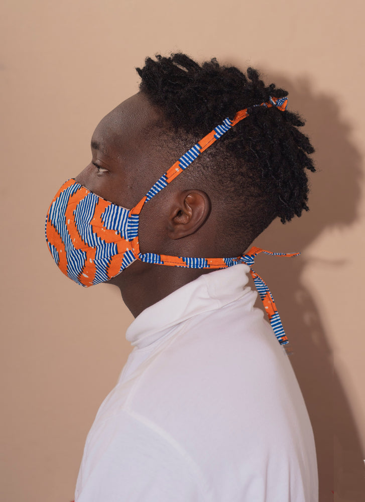 Cotton Face Mask in ZigZag