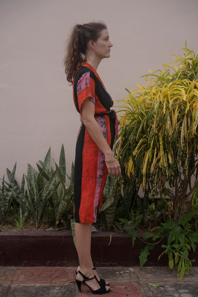 Sampa Dress in Carmine