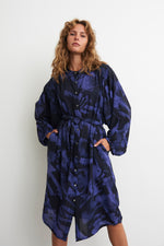 Flouncy Dress in Rorschach