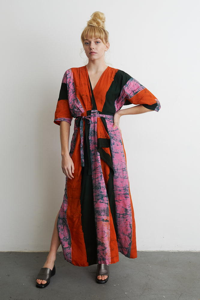 Letsa Wrap Dress in Carmine
