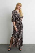 Letsa Wrap Dress in E-Z Maze