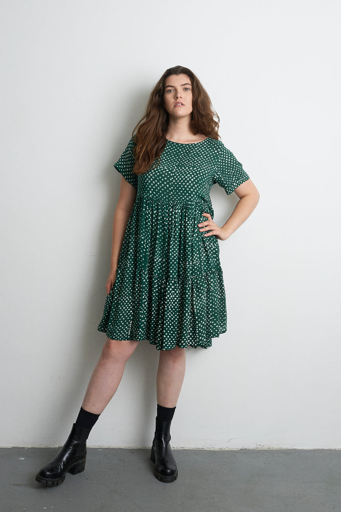 Layer Dress in Bullfrog by Moonlight
