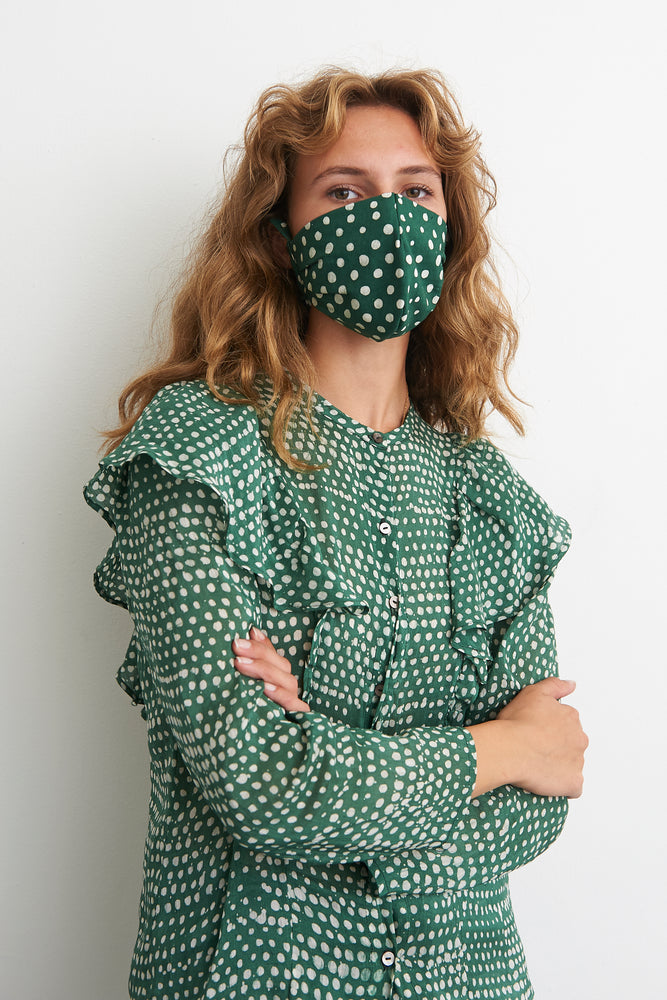 Cotton Face Mask in Bullfrog