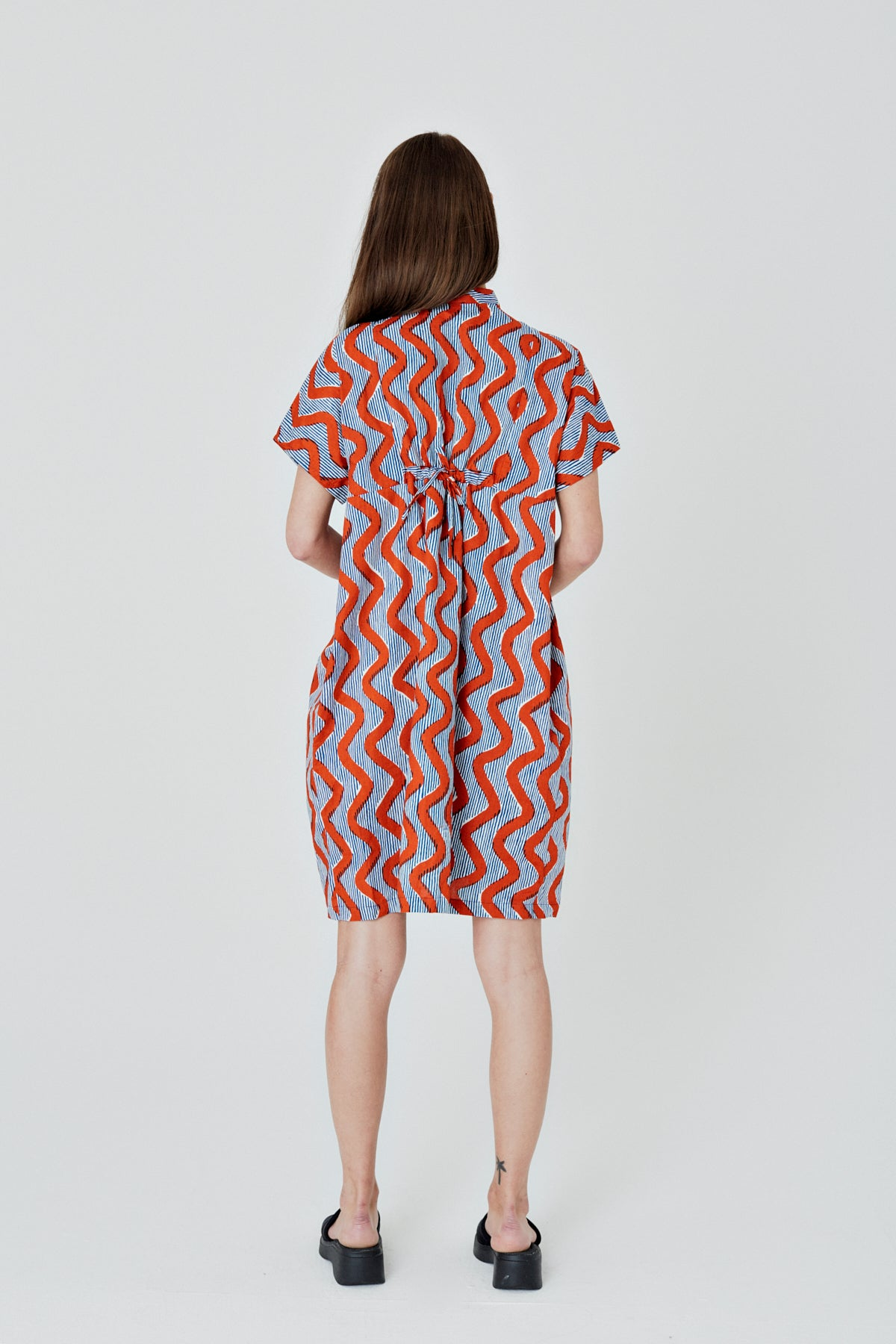 Bata Dress in Zig Zag